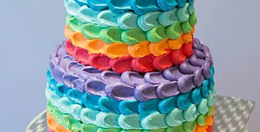 Two Tier Rainbow Chocolate Cake