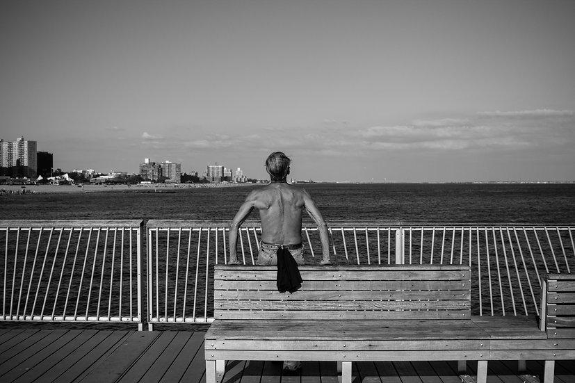 O homem e o mar Coney Island N.Y.C 20x30