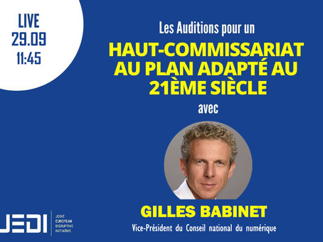 JEDI HEARINGS- Recording With Gilles Babinet