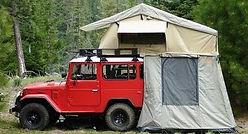 Rooftop tent rack