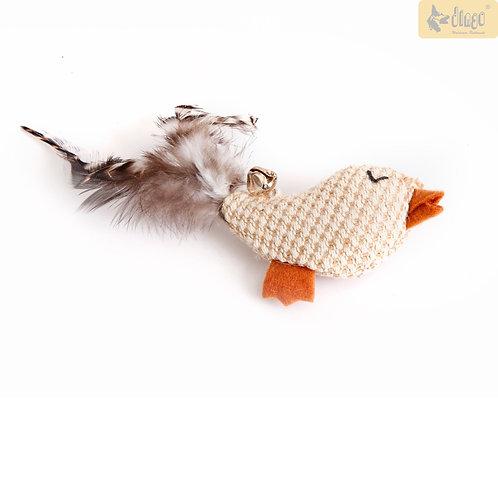 Fugl med fjer og klokke