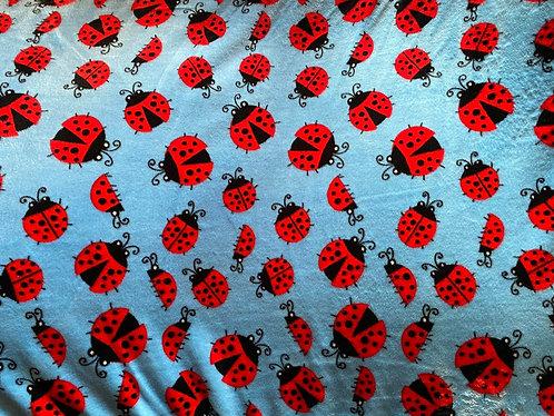 100x70 cm Lyseblå m/ mariehøns