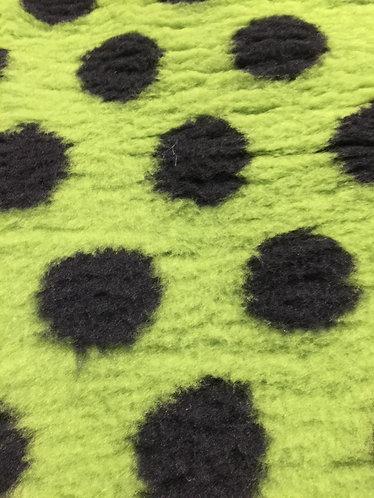 Vetbed Grøn med sorte prikker
