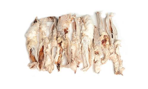 Kaninører m. pels 500g