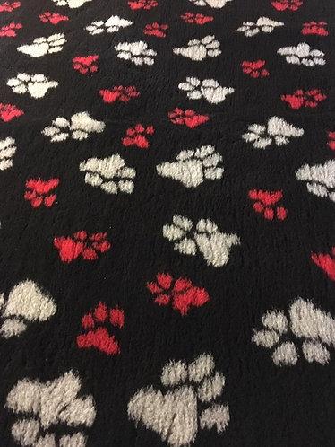 Vetbed sort m rødepoter