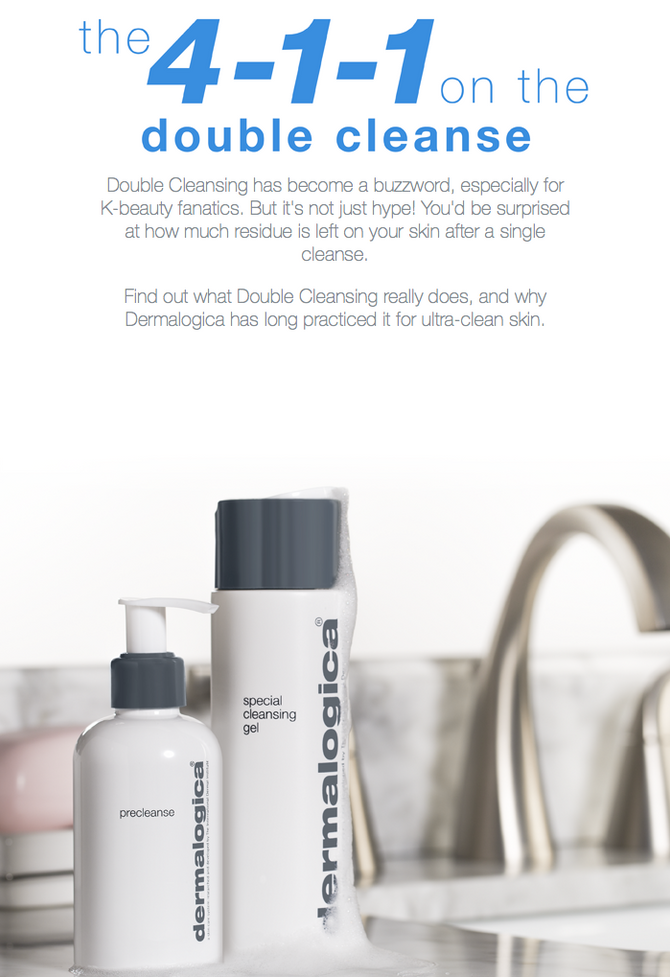 What is double cleanse?