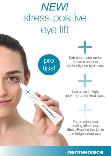 Stress positive eye lift