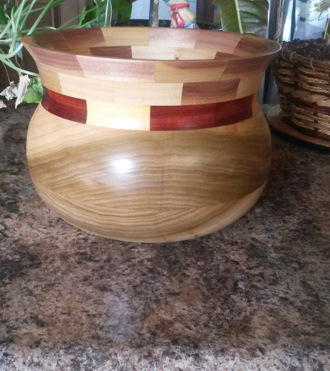 Poplar/Segmented bowl