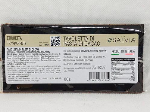 Pasta di fave di cacao pura 100 gr