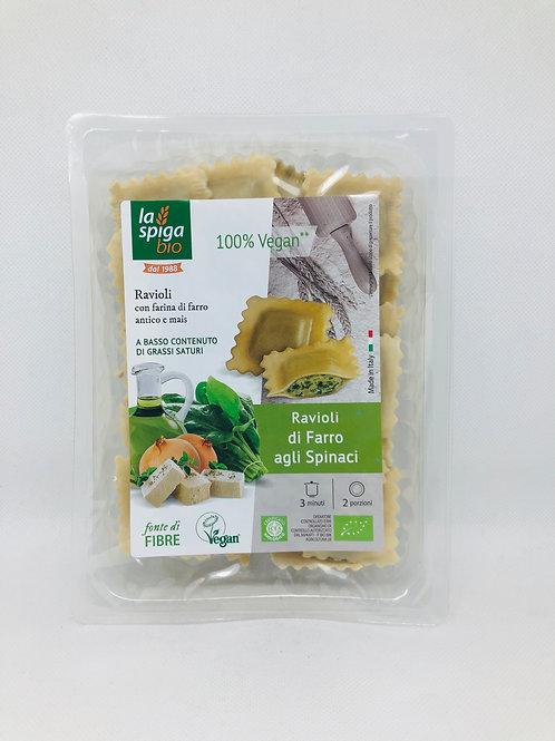 Ravioli di farro agli spinaci 250 gr