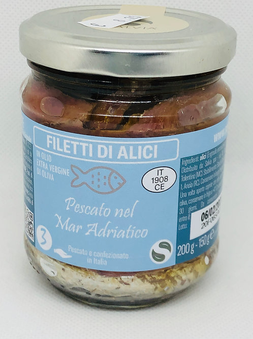 Filetti di alici 150 gr