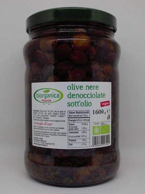 Olive nere denocciolate sott'olio 850 gr