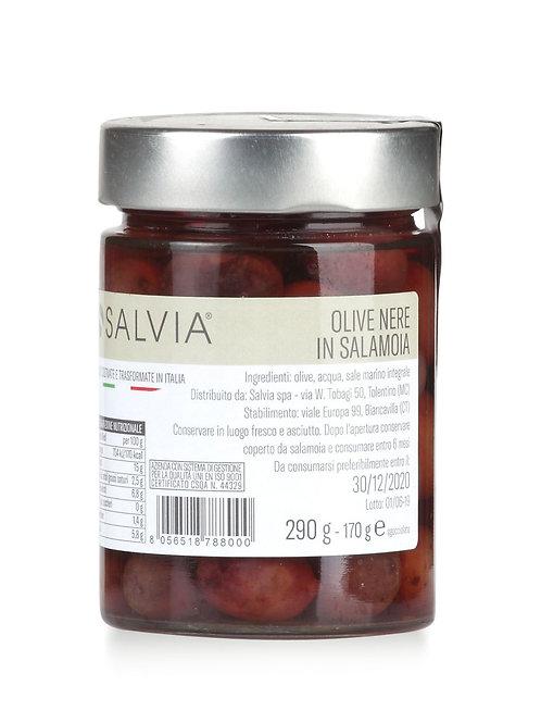 Olive nere in salamoia 170 gr