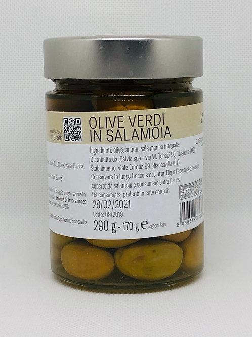 Olive verdi in salamoia 170 gr