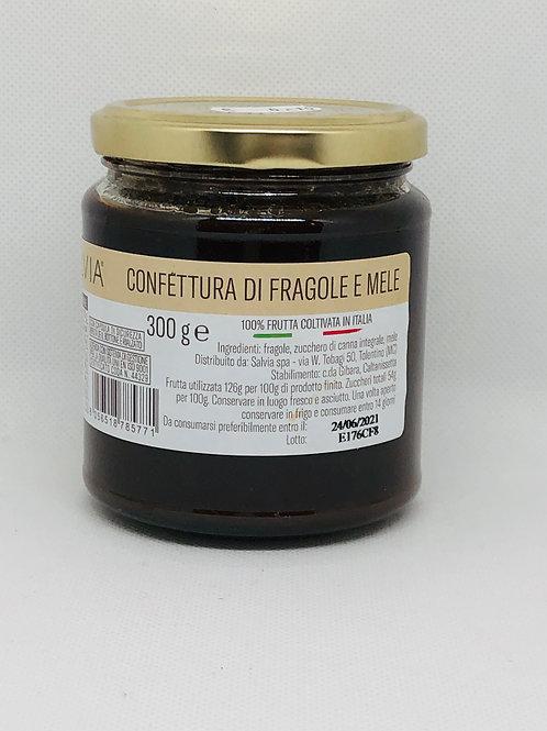 Confettura di fragola e mele 300 gr
