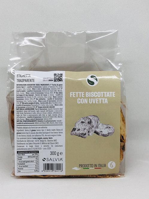 Fette biscottate all'uvetta 300 gr