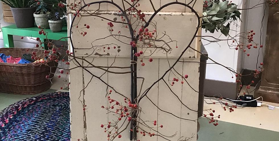 Rose-hip Heart Wreath