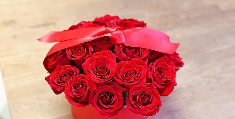 Hatbox Rose Arrangement