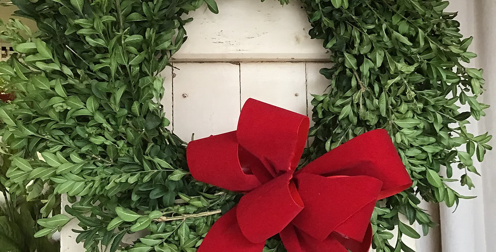 Beautiful Boxwood Wreath