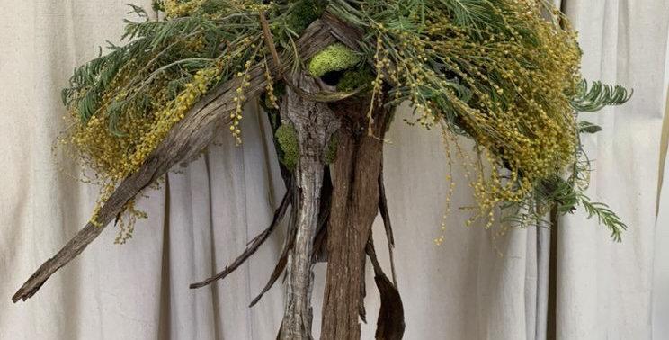 Hand Crafted Asymmetrical Birdhouse