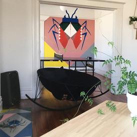 Wall art + interior design, Cobalt, San Francisco