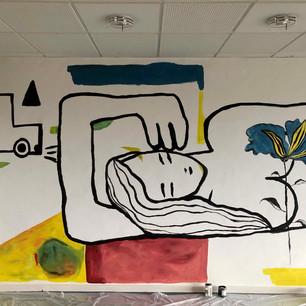8 m long Mural at Vej og Park