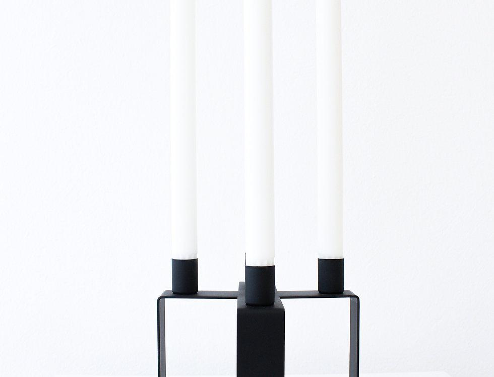 Novoform Frame X Kerzenhalter Metall matt schwarz pulverbeschichtet
