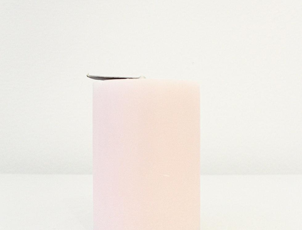 Zylinderkerze Silea rosa