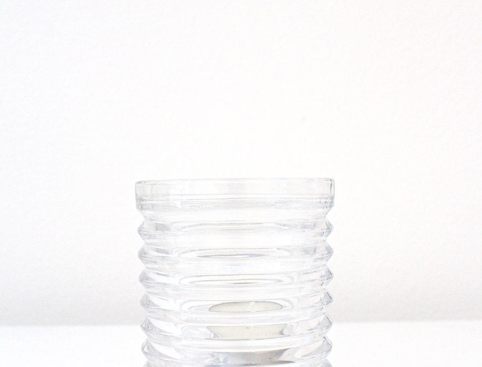 Kaheku Teelichthalter Aina Glas klar mit Ringen