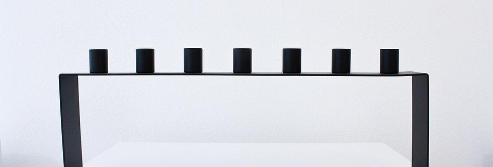 Novoform Frame 7 Kerzenhalter Metall matt schwarz pulverbeschichtet
