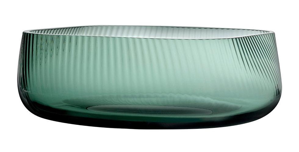 Nude Opti Bowl Vase Smoked Green Breit