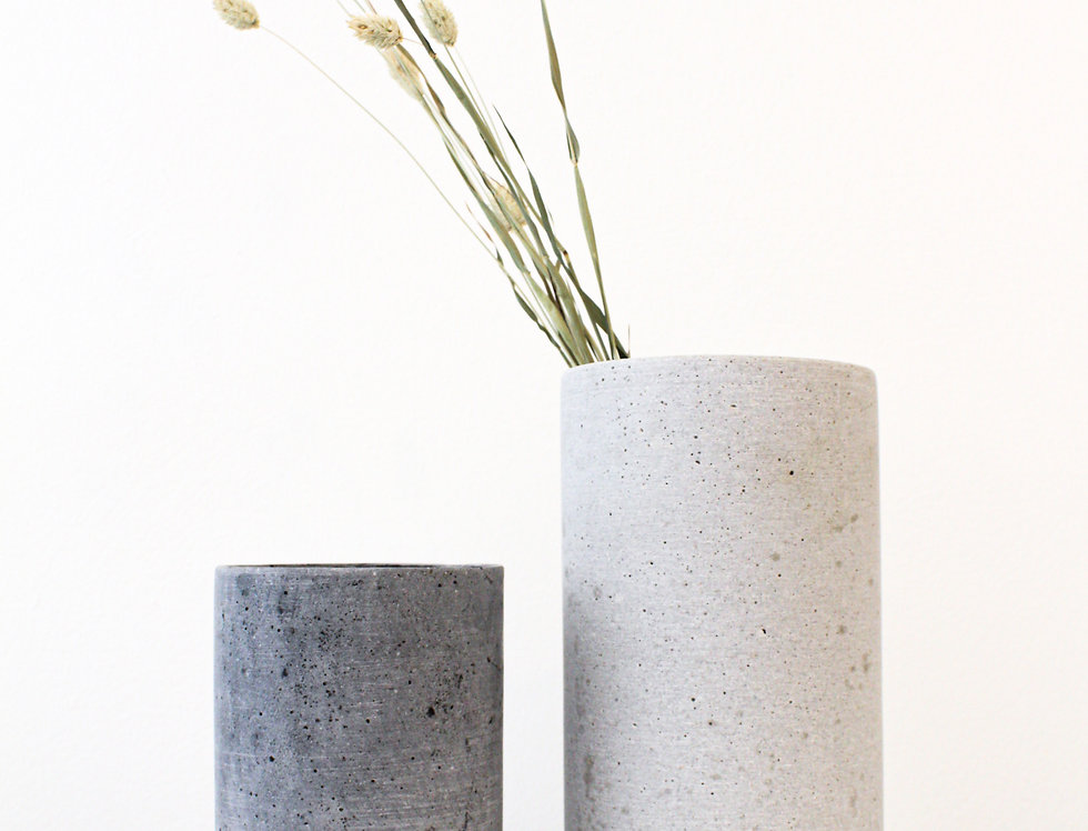 Blomus Vase Coluna Polystone dunkelgrau