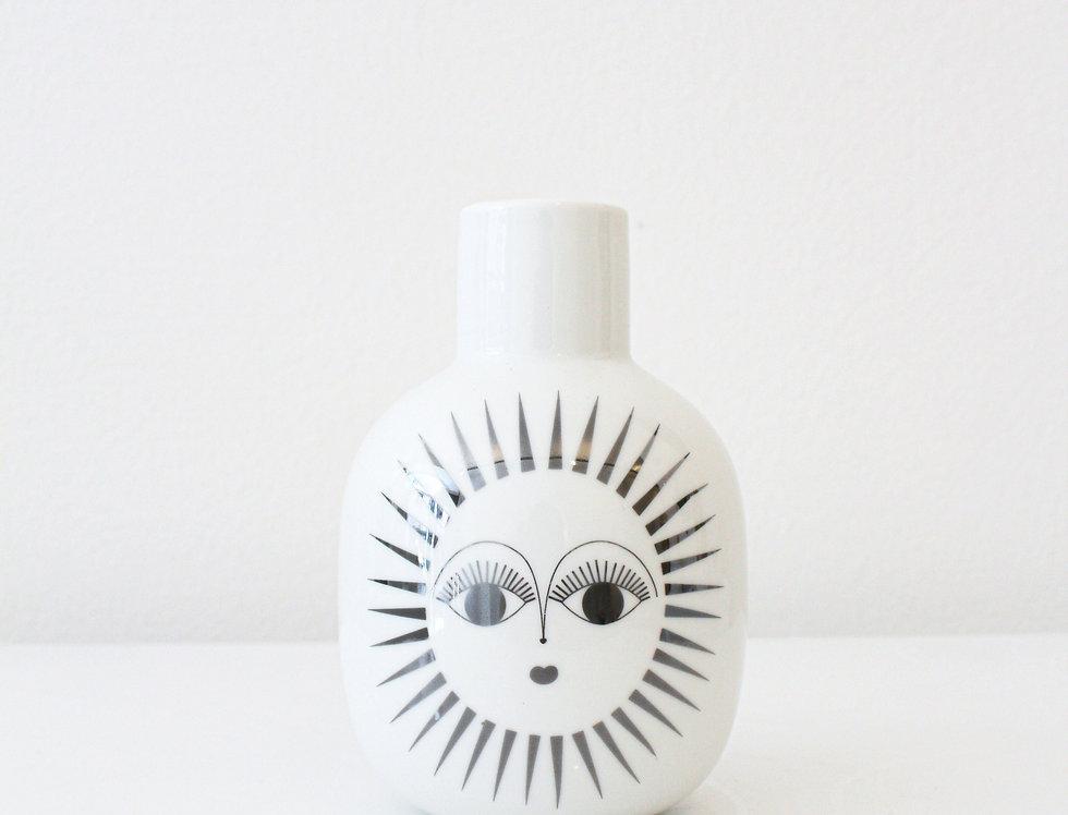 Trevoly Sonnenvase Audrey glänzend weiß/silber