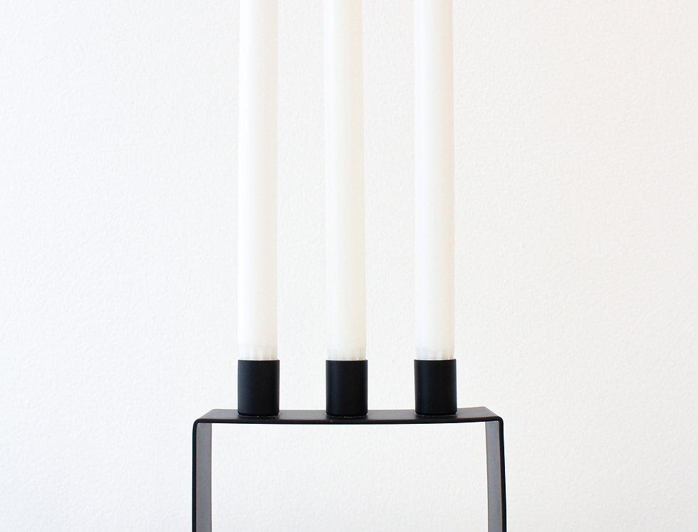 Novoform Frame 3 Kerzenhalter Metall matt schwarz pulverbeschichtet