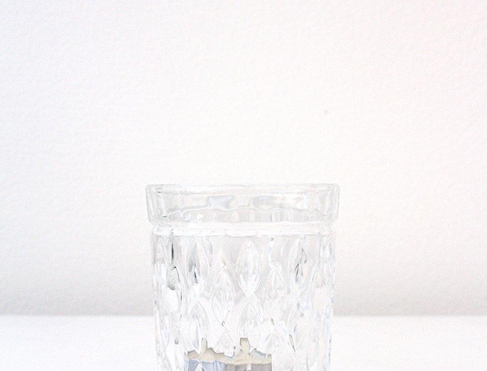 Kaheku Teelichthalter Aina Glas klar mit Tropfen