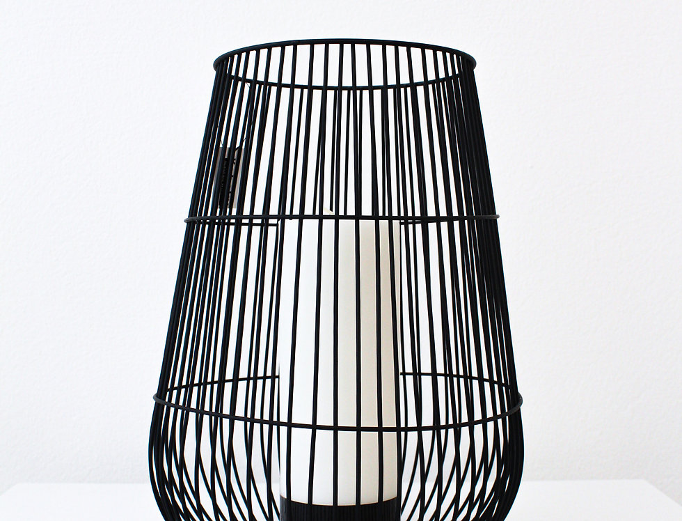 Kaheku Windlicht Hanora schwarz matt groß