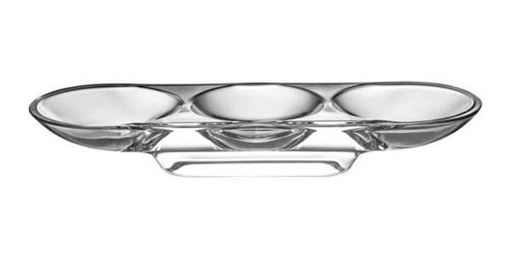 Nude Silhouette Compartment Tray 3 Sections Curved