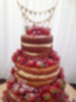 wedding cake cambridgeshire naked cake cambridgeshire