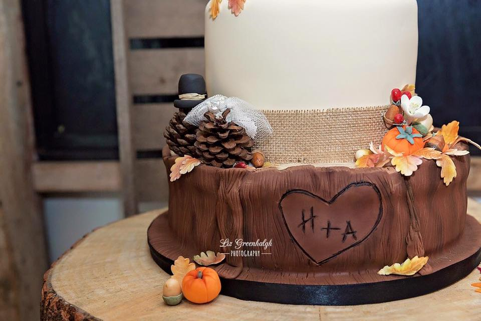 Wood effect Wedding Cake