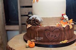 Wood effect Wedding Cake