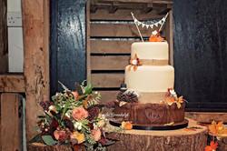 Autumn theme wood cake