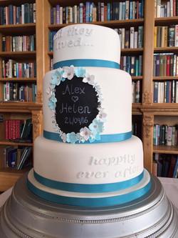 Flower Blackboard cake