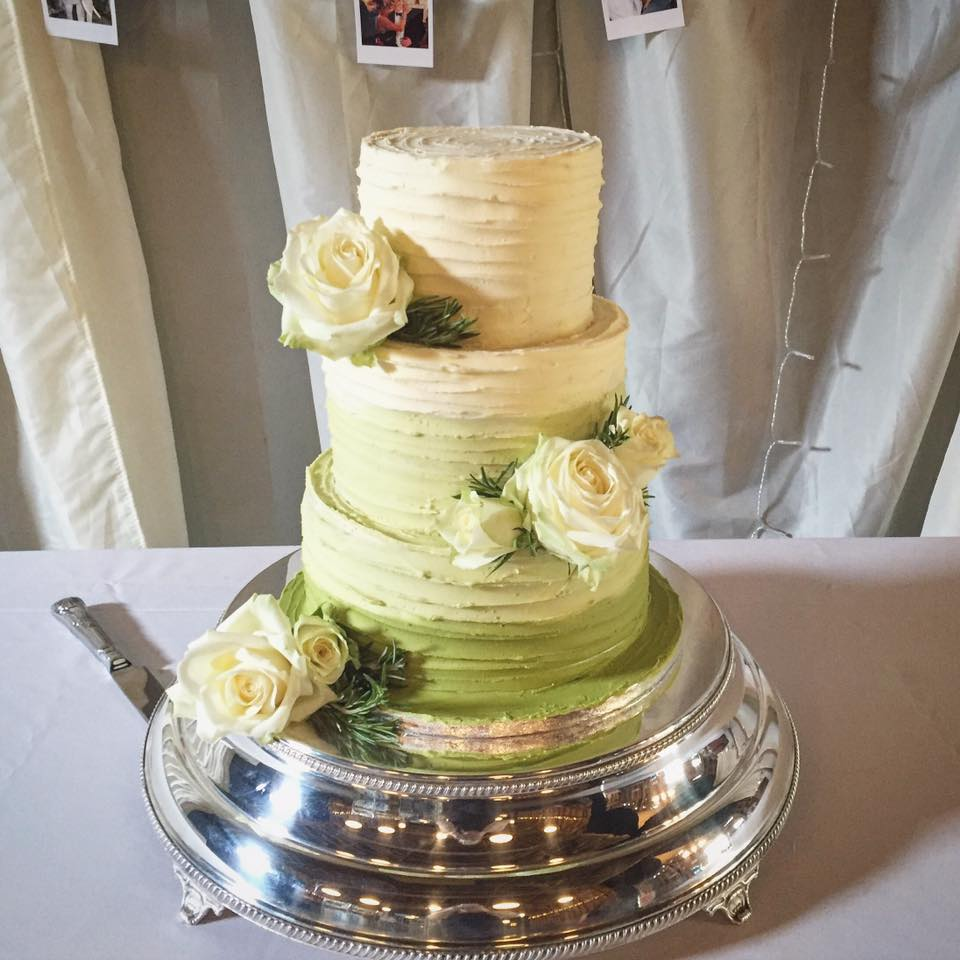 Green Ombre Buttercream