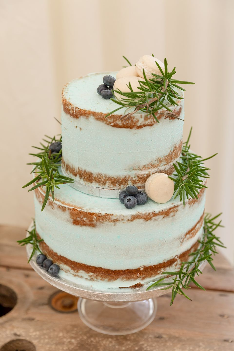 Pale Blue Semi Naked Cake