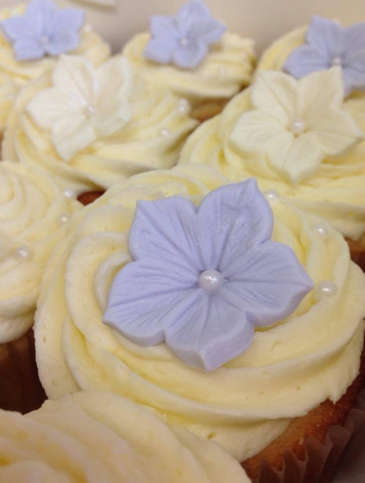 Lilac Flower Cupcake