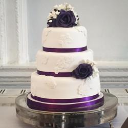 Purple lace applique