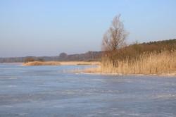 Schlittschuhlaufen auf dem Kölpinsee