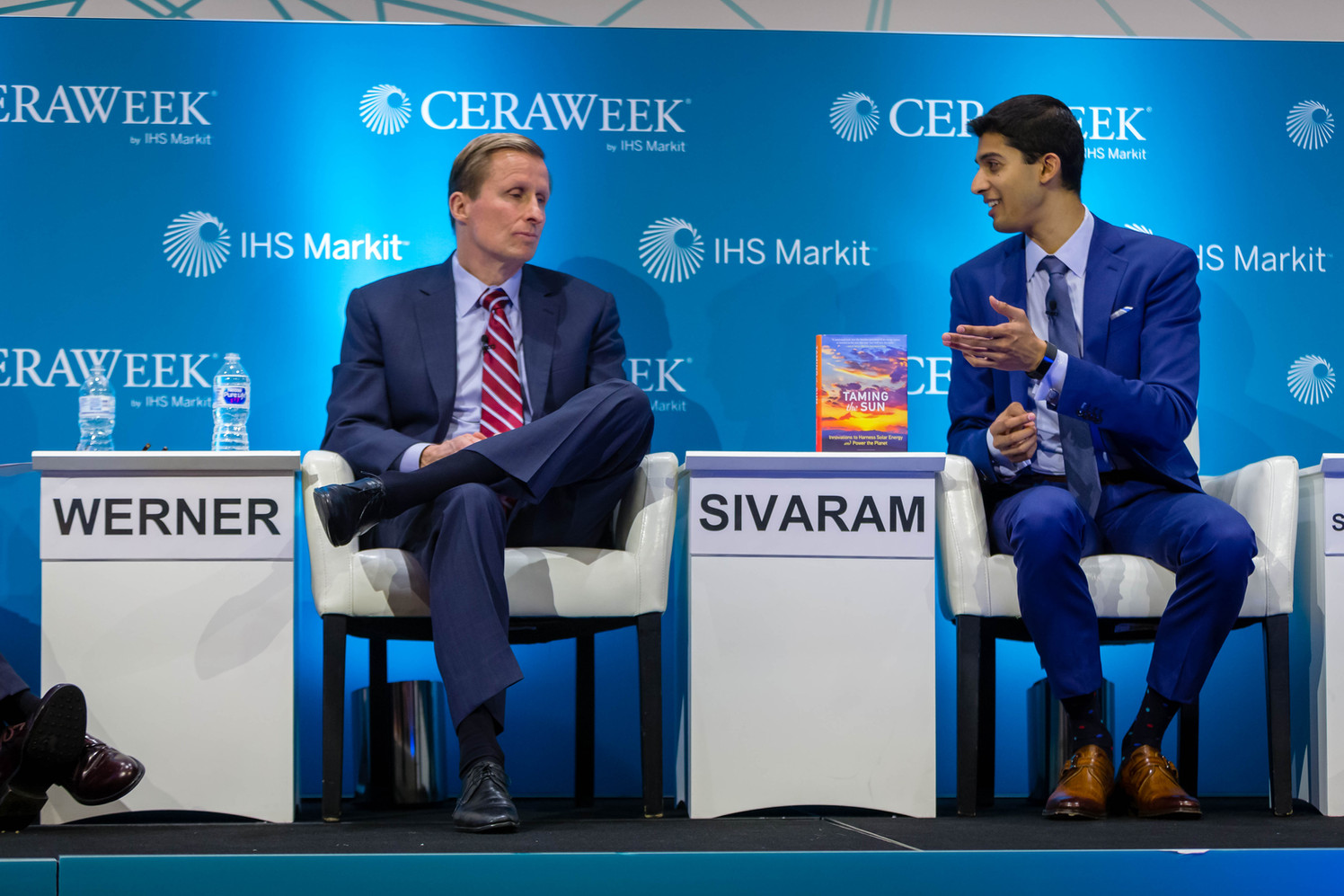 At IHS CERAweek in Houston with SunPower CEO Tom Werner