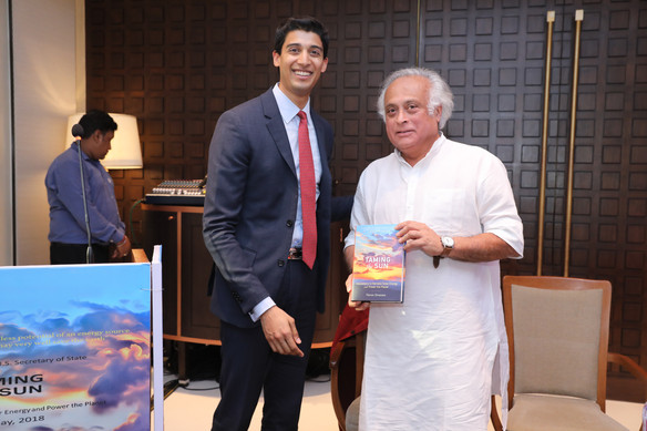 With former Indian environment minister Jairam Ramesh at the New Delhi Launch