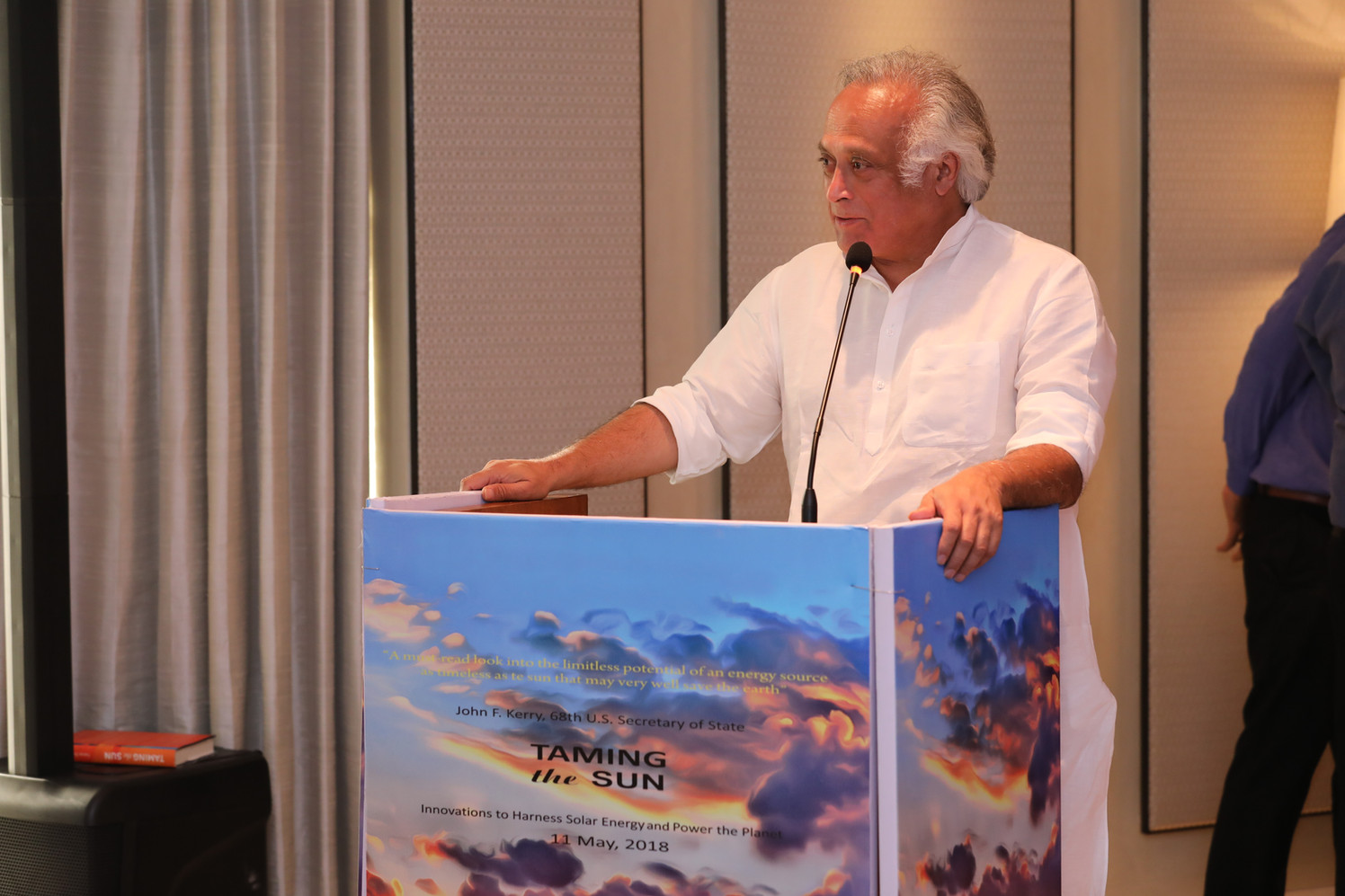 Former Indian Environment Minister Jairam Ramesh Launches Taming the Sun in New Delhi